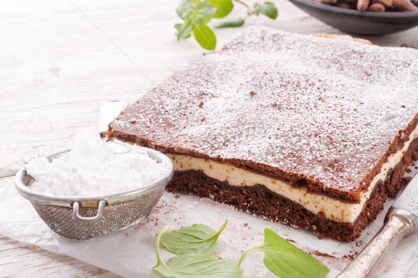 Chocolate cheese cake Stock photo © Dar1930