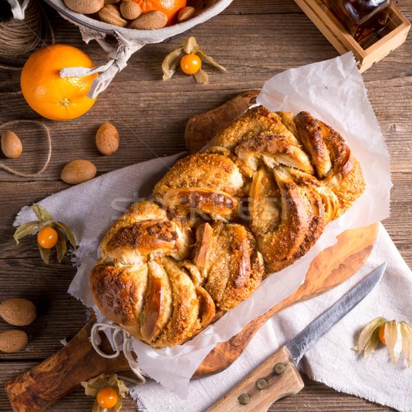 дрожжи торт оранжевый зима хлеб сыра Сток-фото © Dar1930