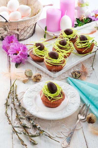 Сток-фото: Пасху · торты · цветок · продовольствие · яйцо · конфеты