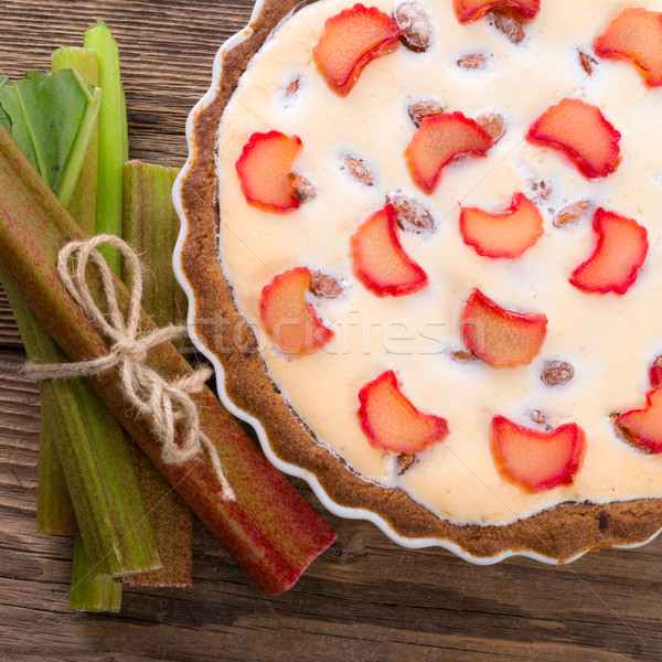 Ravent pasta yaprak bahçe sağlık mutfak Stok fotoğraf © Dar1930