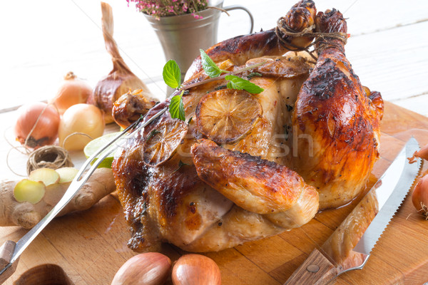 roasted chickens Stock photo © Dar1930