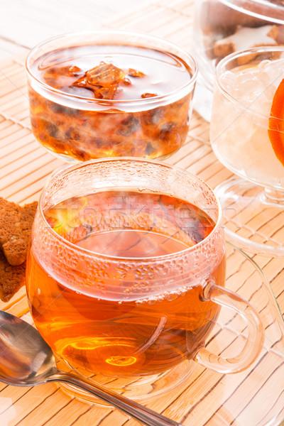 чай рок конфеты дома стекла здоровья Сток-фото © Dar1930