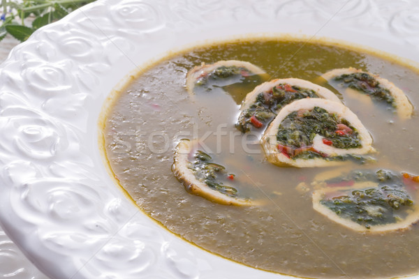 Cabbage soup with meat rolls Stock photo © Dar1930