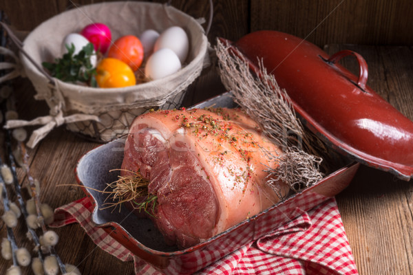 raw Easter roast - crisp and fresh Stock photo © Dar1930