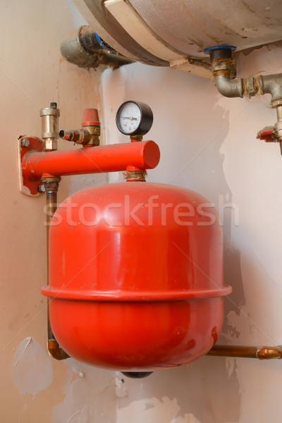 старые отопления установка дома строительство домой Сток-фото © Dar1930