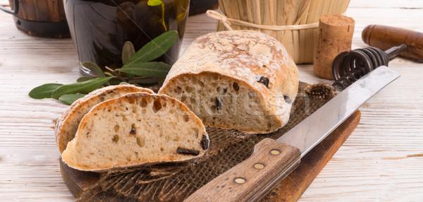 home-made olive ciabatta Stock photo © Dar1930