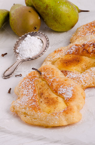 Racuchy – Polish pancakes with fruits Stock photo © Dar1930