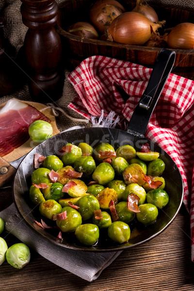 Miel Bruselas jamón alimentos fondo cocina Foto stock © Dar1930