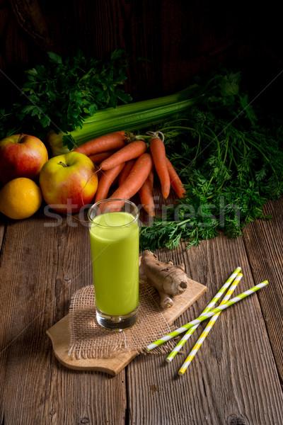 Freshly squeezed celery juice Stock photo © Dar1930