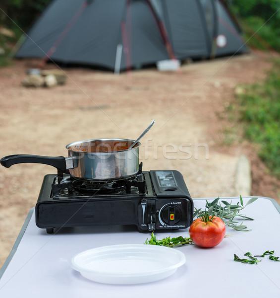 Campo pasta cucina cottura cuoco pranzo Foto d'archivio © Dar1930