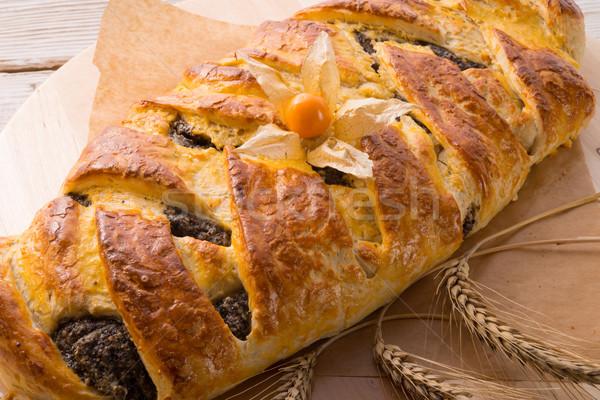 Poppy marsepein brood voedsel achtergrond brood Stockfoto © Dar1930