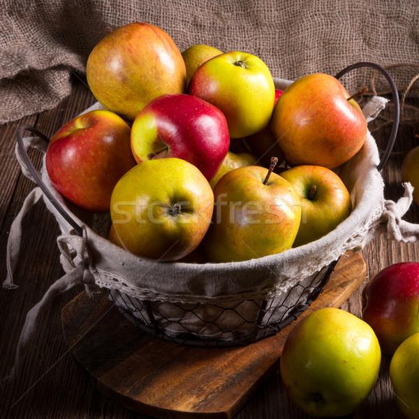 Fresh autumn apples in the basket  Stock photo © Dar1930