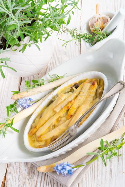 Asparagus leek casserole  Stock photo © Dar1930