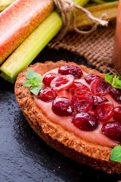 Ruibarbo fruto verde prato alimentação Foto stock © Dar1930