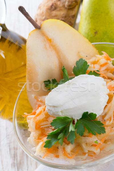 Aipo salada pereira comida jantar legumes Foto stock © Dar1930