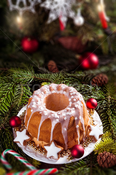 christmas madeira cake Stock photo © Dar1930