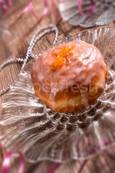 Buñuelo alimentos fiesta torta invierno desayuno Foto stock © Dar1930