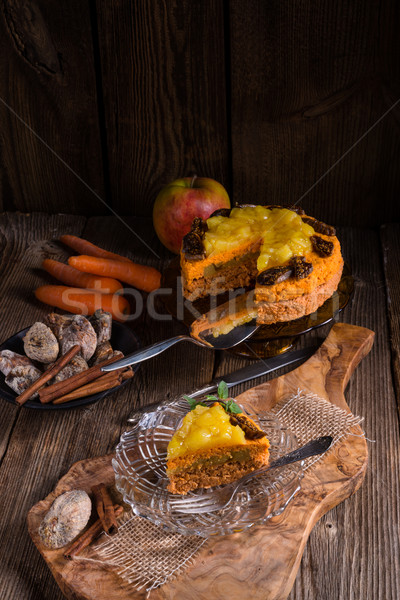 Gluten-free vegan carrot cake Stock photo © Dar1930