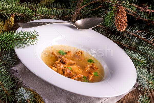 гриб бульон обеда белый приготовления есть Сток-фото © Dar1930