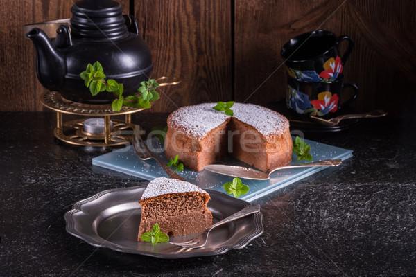 Stock photo:     Japanese Cheesecake