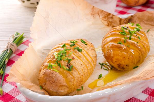 hasselback potato Stock photo © Dar1930