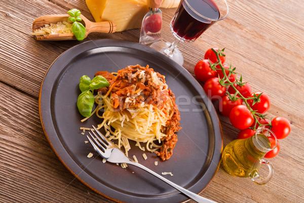 spaghetti bolognese Stock photo © Dar1930