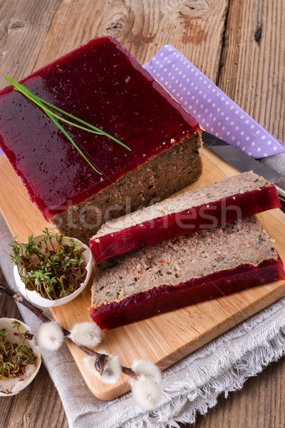purifies pie with mushrooms and wild cranberries Stock photo © Dar1930