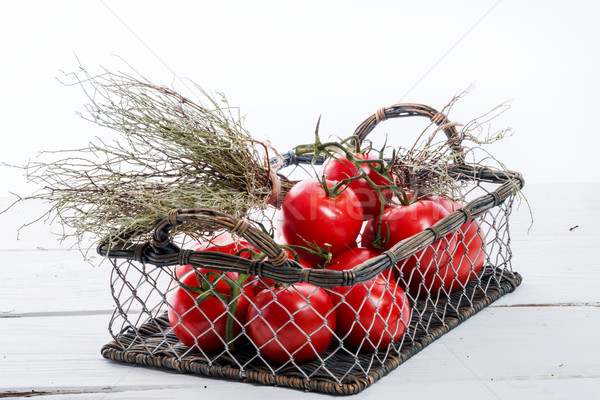 tomatoes in the basket Stock photo © Dar1930