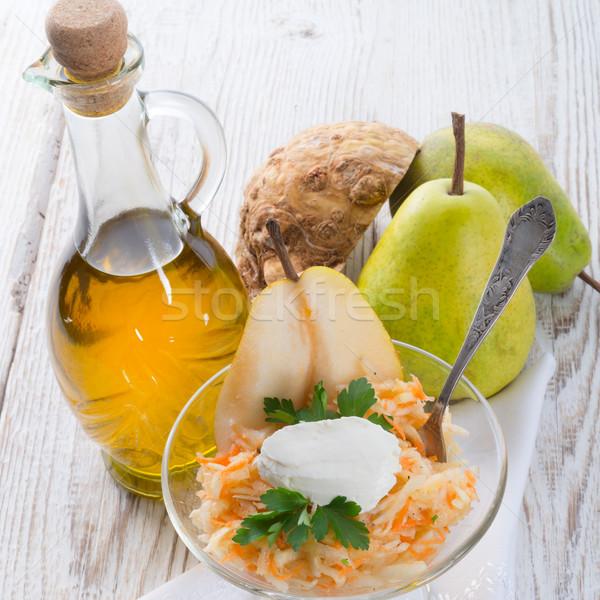 Apio ensalada pera alimentos cena hortalizas Foto stock © Dar1930