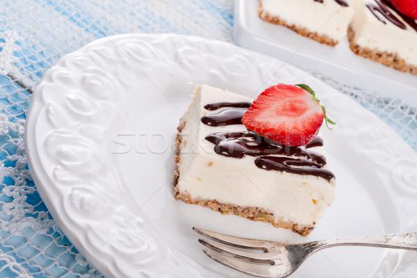 Strawberry Chocolate Cheesecake Stock photo © Dar1930