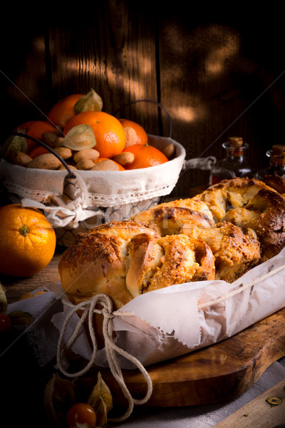 Levedura bolo laranja inverno pão queijo Foto stock © Dar1930
