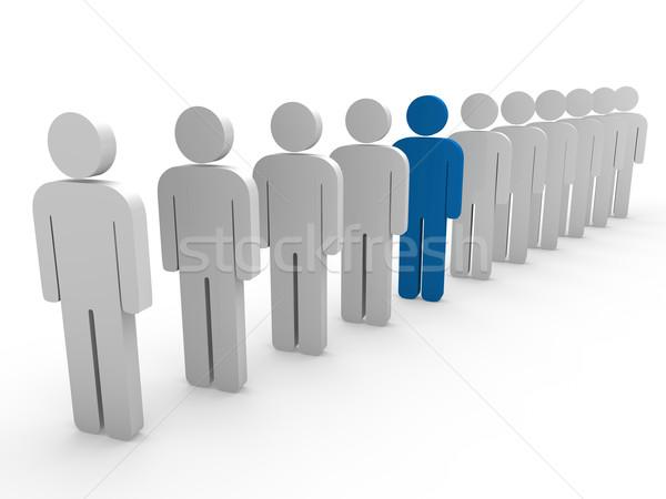 3D líder da equipe patrão companhia azul trabalho em equipe Foto stock © dariusl
