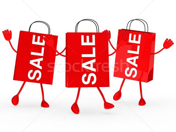 Rood verkoop zakken golf drie springen Stockfoto © dariusl