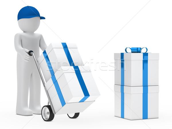 Descobrir fornecedor mão caminhão presentes Foto stock © dariusl