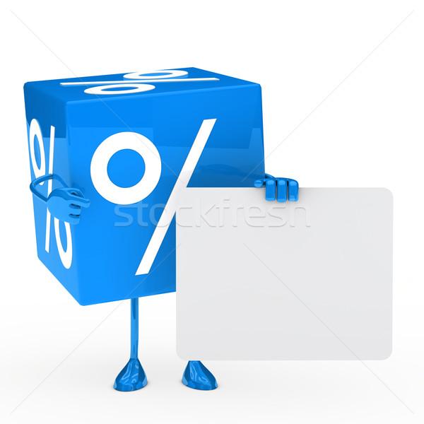 Blue sale cube Stock photo © dariusl