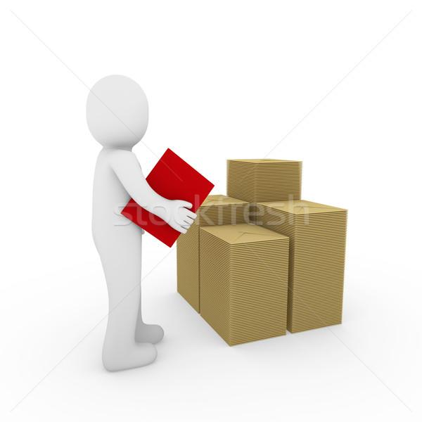 Brief Rood papier mail business Stockfoto © dariusl