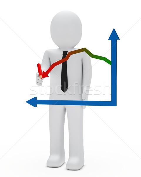 businessman graph Stock photo © dariusl