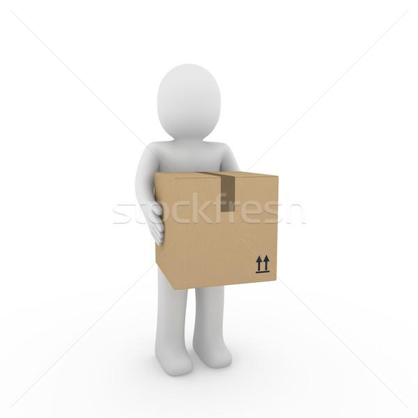 3d human package shipping Stock photo © dariusl