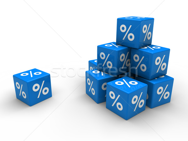 3d red cube sale  Stock photo © dariusl