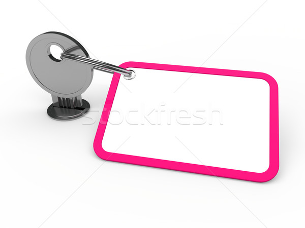 3d key attached pink Stock photo © dariusl