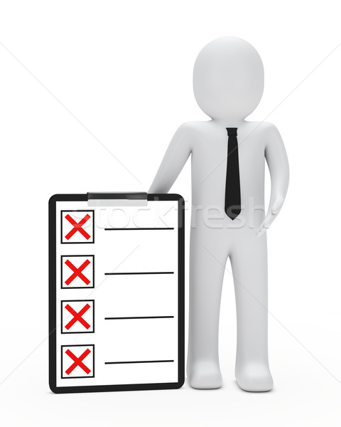 Zakenman stropdas Rood document trekken Stockfoto © dariusl