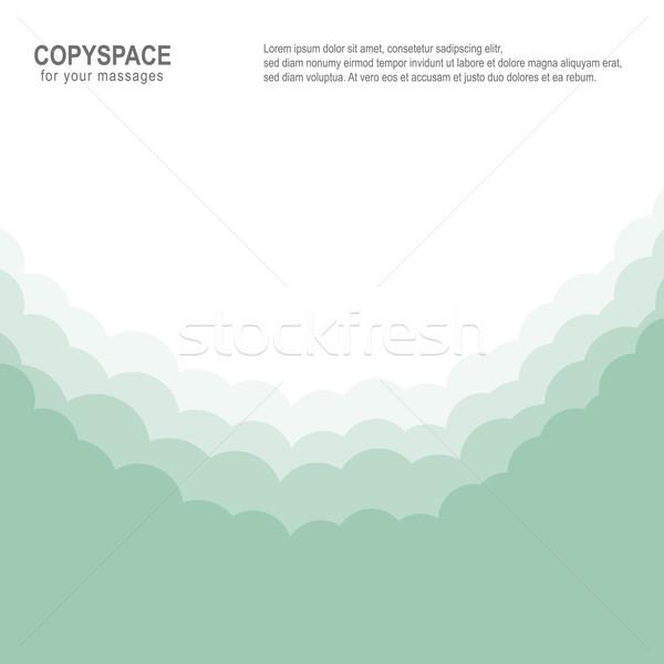 Felhő menny zöld fehér izolált copy space Stock fotó © dariusl