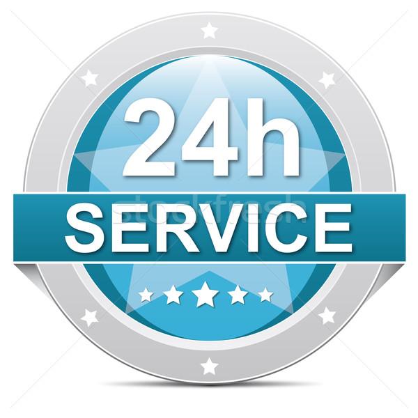 24 dienst Blauw 7 dagen knop sterren Stockfoto © dariusl