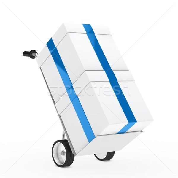 gift box hand truck Stock photo © dariusl