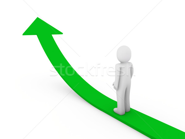 3d ember nyíl siker növekedés zöld magas Stock fotó © dariusl