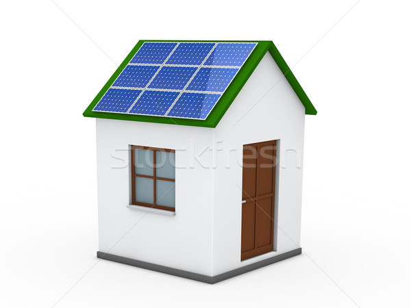 3d house solar energy green  Stock photo © dariusl