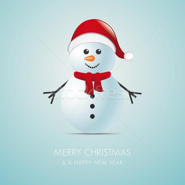 snowman with scarf Stock photo © dariusl