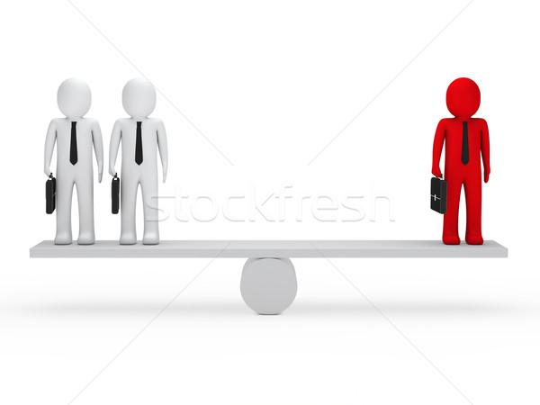 business men balance on seesaw Stock photo © dariusl