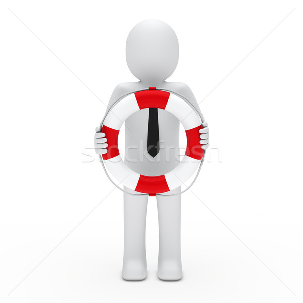 3D zakenman sos helpen man abstract Stockfoto © dariusl