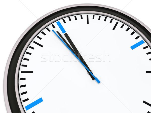 Clock uno minuto dodici ufficio abstract Foto d'archivio © dariusl